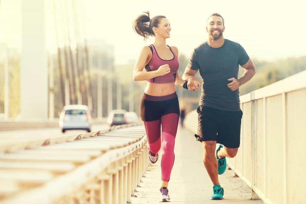 Man & Woman running