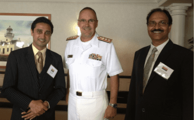 Deven Patel, US Navy Vice Admiral Buss, Dr. Anand Srivastava